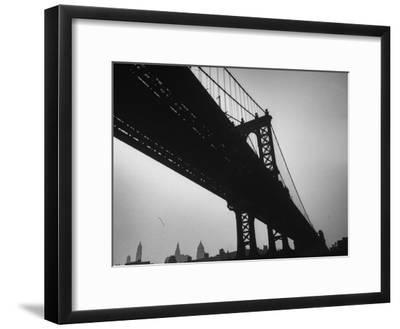 Picture of Manhattan Bridge Taken from Almost Directly Underneath-Lisa Larsen-Framed Photographic Print