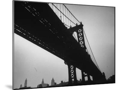 Picture of Manhattan Bridge Taken from Almost Directly Underneath-Lisa Larsen-Mounted Photographic Print