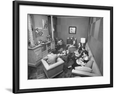 Jinx Falkenburg's Television Room--Framed Photographic Print