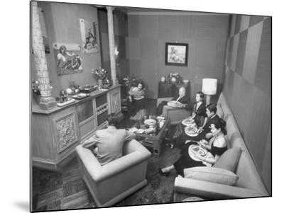 Jinx Falkenburg's Television Room--Mounted Photographic Print