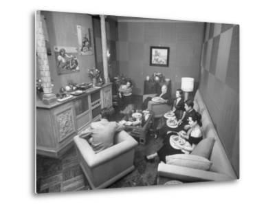 Jinx Falkenburg's Television Room--Metal Print
