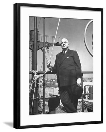 Ship Builder Henry J. Kaiser-Hansel Mieth-Framed Photographic Print