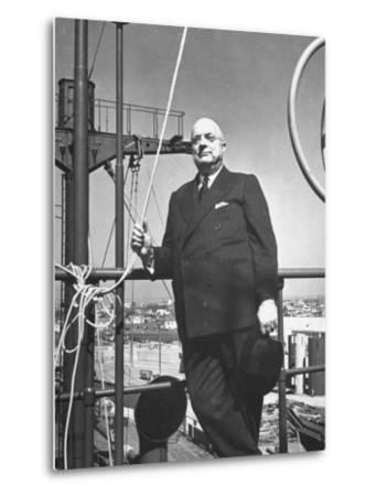 Ship Builder Henry J. Kaiser-Hansel Mieth-Metal Print