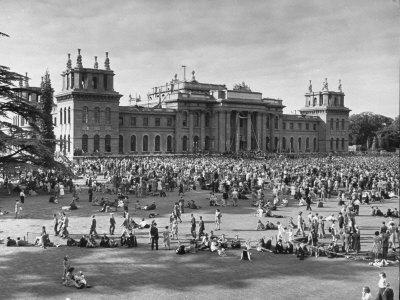 People Gathering at the Blenheim Palace Fete--Framed Photographic Print