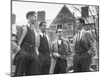 Tartan Vests Worn with Sports Jackets are Favored by These Yale Undergraduates--Mounted Photographic Print