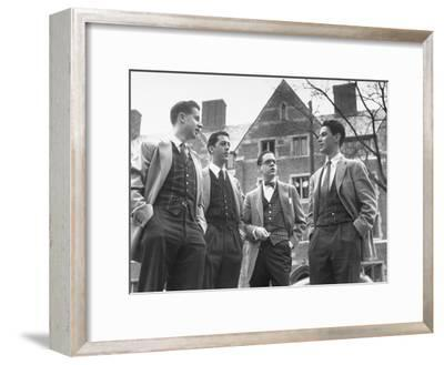 Tartan Vests Worn with Sports Jackets are Favored by These Yale Undergraduates--Framed Photographic Print