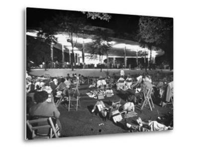 Outdoor Concert-Ralph Crane-Metal Print