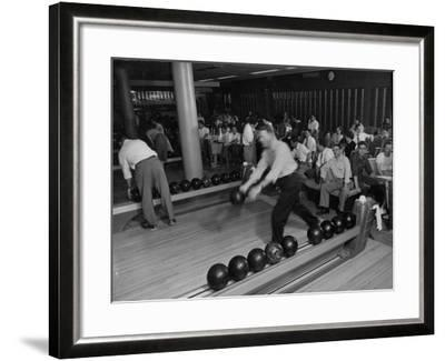 People Bowling at the Mcculloch Motors Recreation Building-J^ R^ Eyerman-Framed Photographic Print