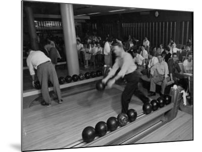 People Bowling at the Mcculloch Motors Recreation Building-J^ R^ Eyerman-Mounted Photographic Print