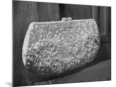 First Lady Mrs. Dwight D. Eisenhower's Inaugural Jeweled Purse Encrusted with 3,456 Pink Pearls-Nina Leen-Mounted Photographic Print