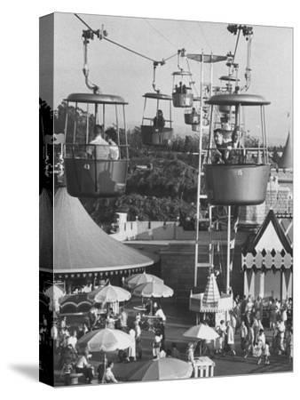 Francisco Pignatari and Girlfriend Barbara Cailleux Visiting Disneyland-Ralph Crane-Stretched Canvas Print