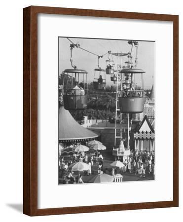 Francisco Pignatari and Girlfriend Barbara Cailleux Visiting Disneyland-Ralph Crane-Framed Photographic Print