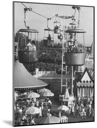 Francisco Pignatari and Girlfriend Barbara Cailleux Visiting Disneyland-Ralph Crane-Mounted Photographic Print