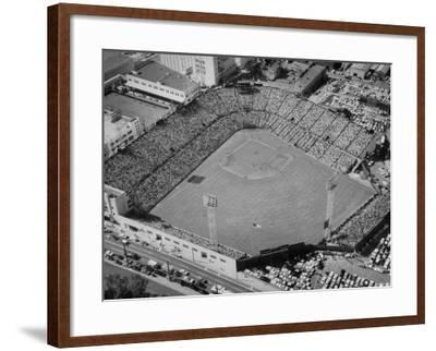 Ariels of Seals Stadium Druing Opeaning Day-Nat Farbman-Framed Photographic Print