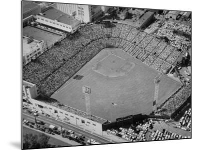 Ariels of Seals Stadium Druing Opeaning Day-Nat Farbman-Mounted Photographic Print
