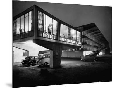 New Motel, Restaurant and Glass and Steel Garage-Ralph Crane-Mounted Photographic Print