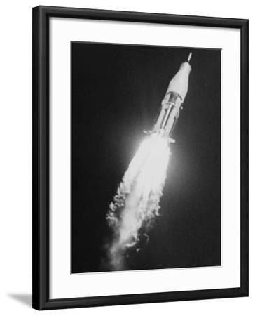 During the Blastoff of Saturn-Ib--Framed Photographic Print