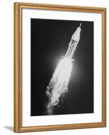During the Blastoff of Saturn-Ib--Framed Photographic Print