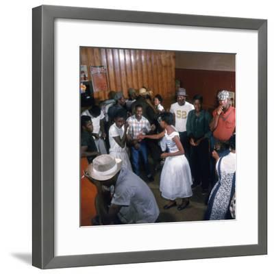 African Americans Dancing to the Jukebox at the Harlem Cafe-Margaret Bourke-White-Framed Photographic Print