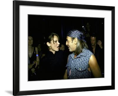 Model Kate Moss and Designer John Galliano at Galliano's Opening of Christian Dior Boutique-Marion Curtis-Framed Premium Photographic Print