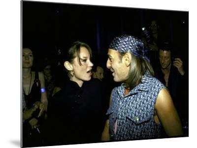 Model Kate Moss and Designer John Galliano at Galliano's Opening of Christian Dior Boutique-Marion Curtis-Mounted Premium Photographic Print