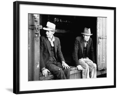 Vagrants Sitting in Boxcar--Framed Photographic Print