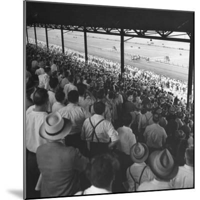 People Watching Horse Racing--Mounted Photographic Print