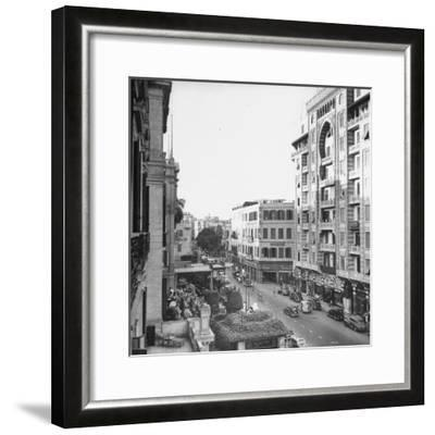 City Street from Room at Shepherd's Hotel-Bob Landry-Framed Photographic Print