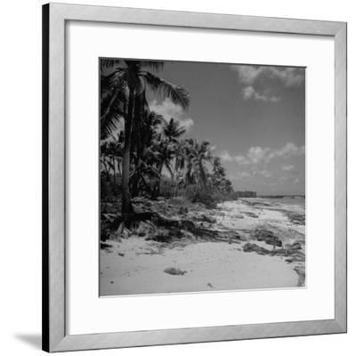 Shoreline at Bikini Atoll on Day of Atomic Bomb Test-Bob Landry-Framed Photographic Print