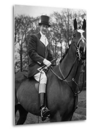 Fox Hunting, England--Metal Print