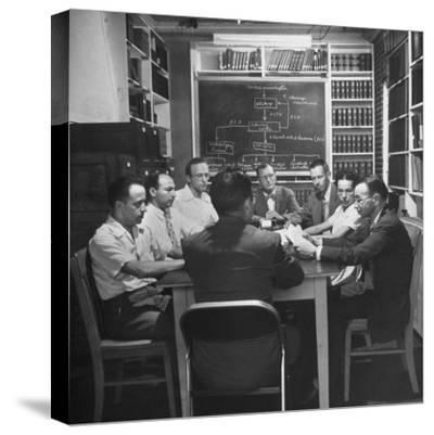Doctors and Researchers Studying Interaction of Body Chemistry under Stress--Stretched Canvas Print