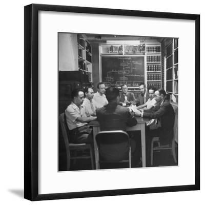 Doctors and Researchers Studying Interaction of Body Chemistry under Stress--Framed Photographic Print