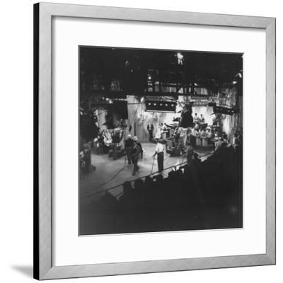 """Overall View of Production Scene from TV Series """"I Love Lucy,"""" Showing the Nightclub-Loomis Dean-Framed Photographic Print"""
