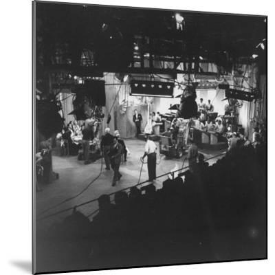 """Overall View of Production Scene from TV Series """"I Love Lucy,"""" Showing the Nightclub-Loomis Dean-Mounted Photographic Print"""
