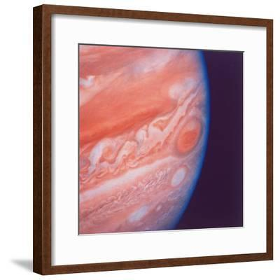 Jupiter's Great Red Spot During Late Jovian Afternoon, Photographed by Voyager 2 Spacecraft--Framed Photographic Print