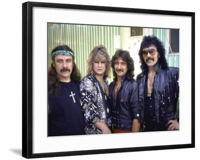 Ozzy Osbourne and Members of Heavy Metal Rock Group, Black Sabbath-Ann Clifford-Framed Premium Photographic Print
