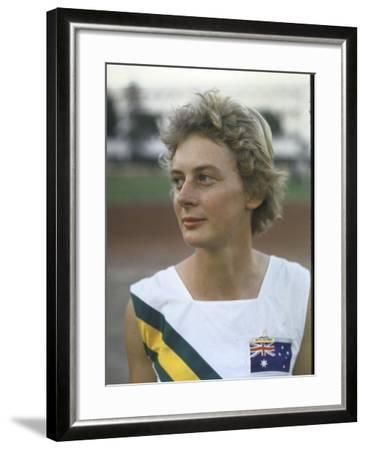 Australian Track Star Betty Cuthbert at Summer Olympics--Framed Premium Photographic Print