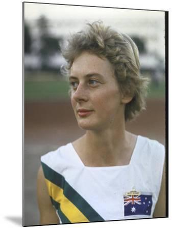 Australian Track Star Betty Cuthbert at Summer Olympics--Mounted Premium Photographic Print