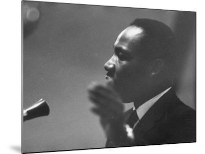 Civil Rights Leader Dr. Martin Luther King Jr. Making a Speech--Mounted Premium Photographic Print