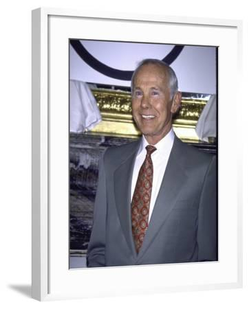 Television Personality Johnny Carson-Mirek Towski-Framed Premium Photographic Print