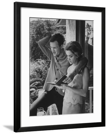 Country Singer Roger Miller and His Wife at Home-Ralph Crane-Framed Premium Photographic Print