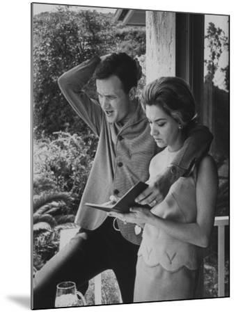 Country Singer Roger Miller and His Wife at Home-Ralph Crane-Mounted Premium Photographic Print