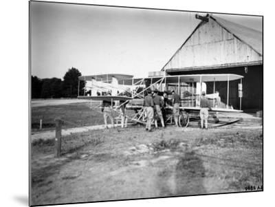 Aviation Pioneer Orville Wright Taking Off for 2nd Army Test in Wright Flyer--Mounted Premium Photographic Print