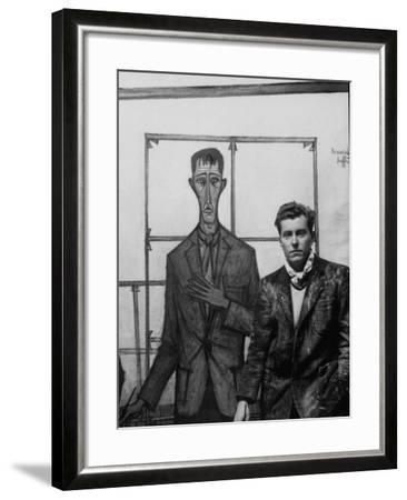 Marvelous Artist Bernard Buffet Standing Next To A Self Portrait Of Himself Premium Photographic Print By Dmitri Kessel Art Com Home Interior And Landscaping Spoatsignezvosmurscom
