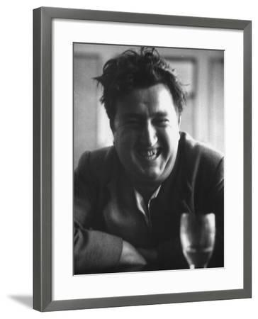 "Brendan Behan, Embodiment of Poet Character in Sean O'Casey's Play, ""The Shadow of a Gunman""-Gjon Mili-Framed Premium Photographic Print"
