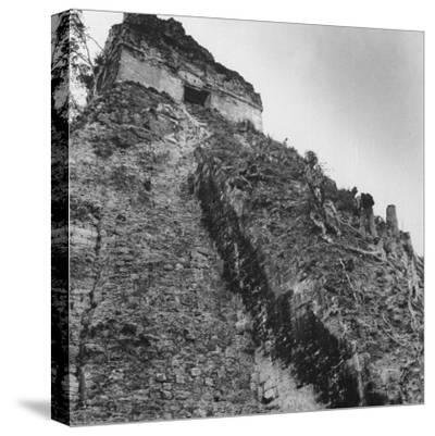 Some Tikal Ruins-Fritz Goro-Stretched Canvas Print