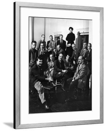 Group Portrait of American Abstract Expressionists, The Irascibles--Framed Premium Photographic Print