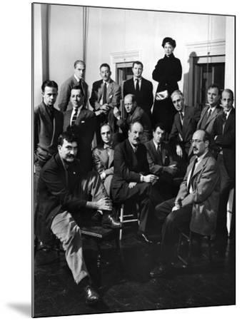 Group Portrait of American Abstract Expressionists, The Irascibles--Mounted Premium Photographic Print