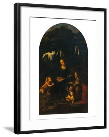 The Virgin of the Rocks (The Virgin and Child, Young St John and an Angel)--Framed Giclee Print