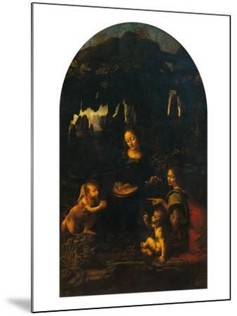 The Virgin of the Rocks (The Virgin and Child, Young St John and an Angel)--Mounted Giclee Print